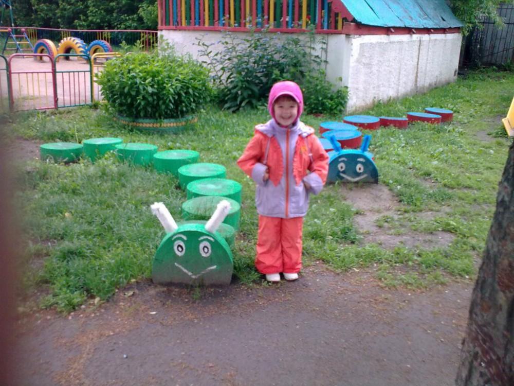 Гусеница своими руками для детской площадки
