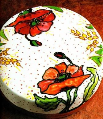 Рисунки на тортах гелями
