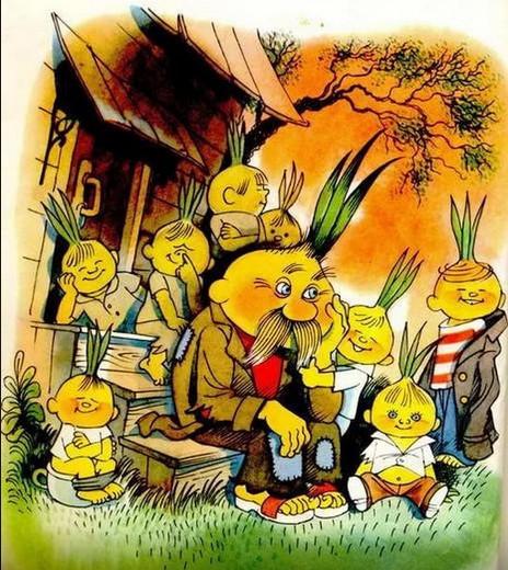 Иллюстрации к сказке приключения чиполлино