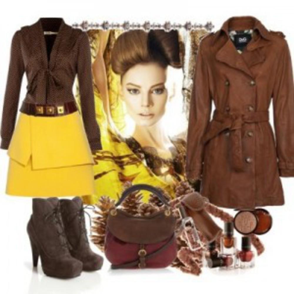 Что можно носить с коричневым цветом в