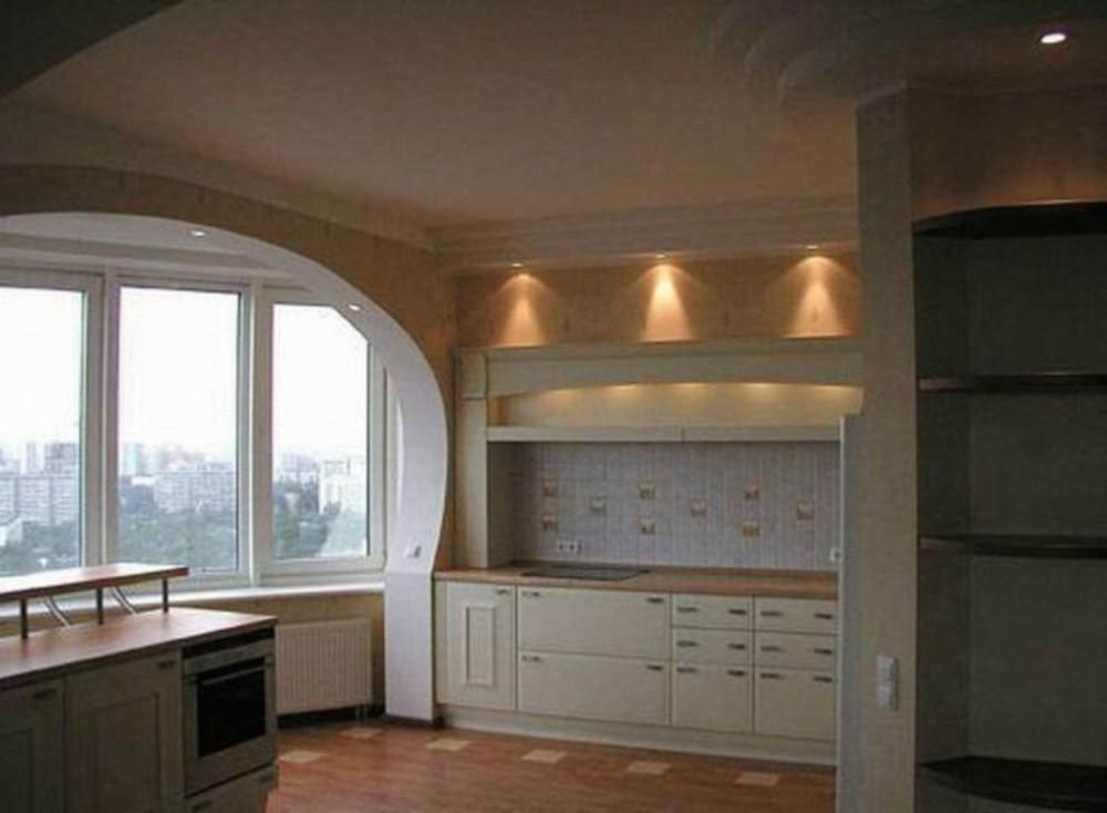 Балкон, совмещенный с кухней (55 фото) - принципы совмещения.
