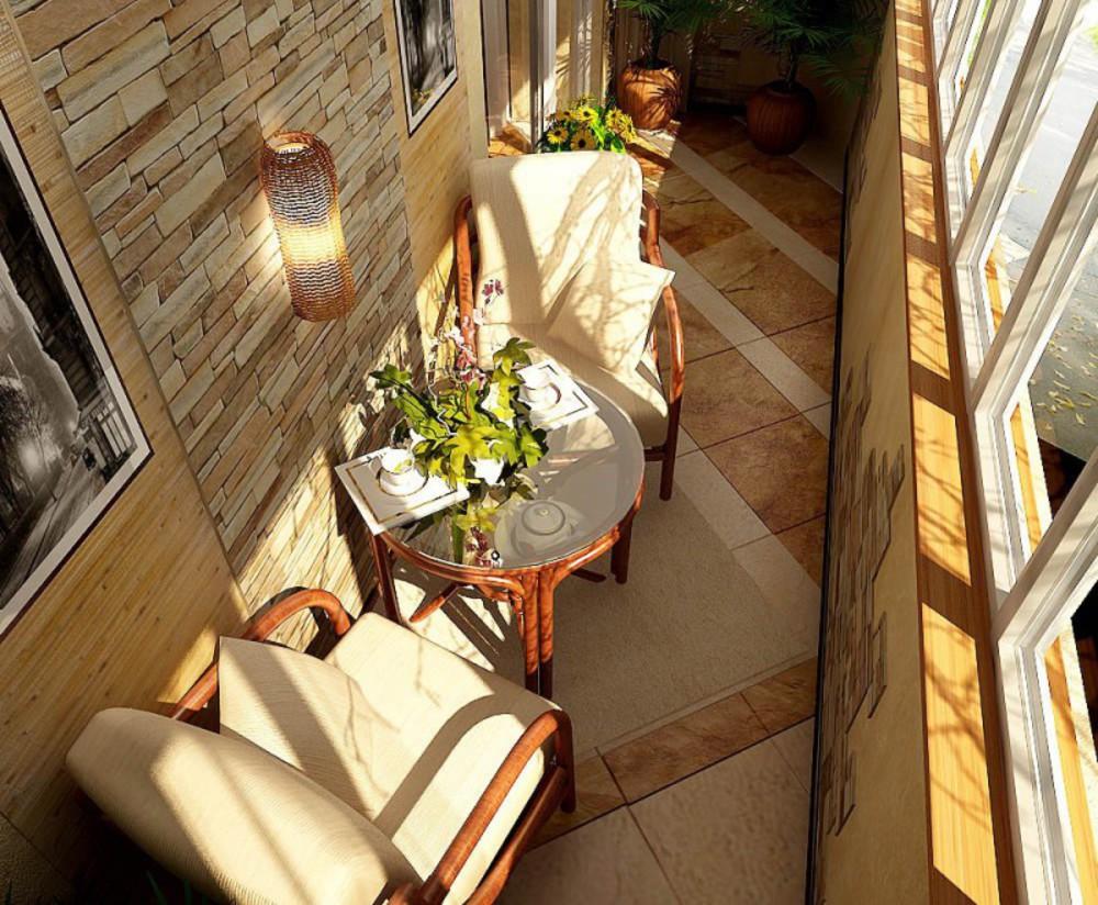 Оформление закрытого балкона, фото, идея, дизайн, интерьер, .