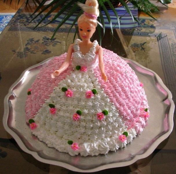 Как сделать торт с куклой барби