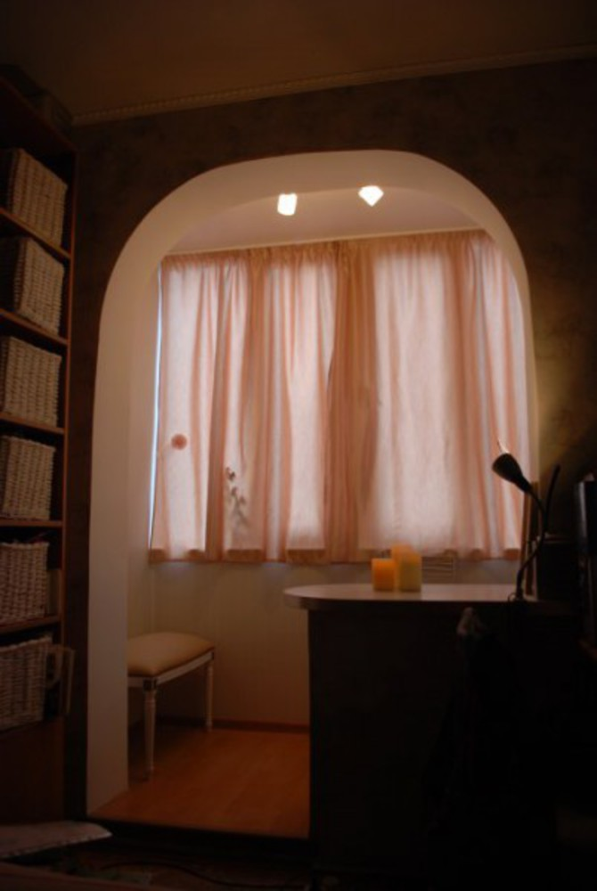 Как присоединить лоджию и комнату, оформление проема.
