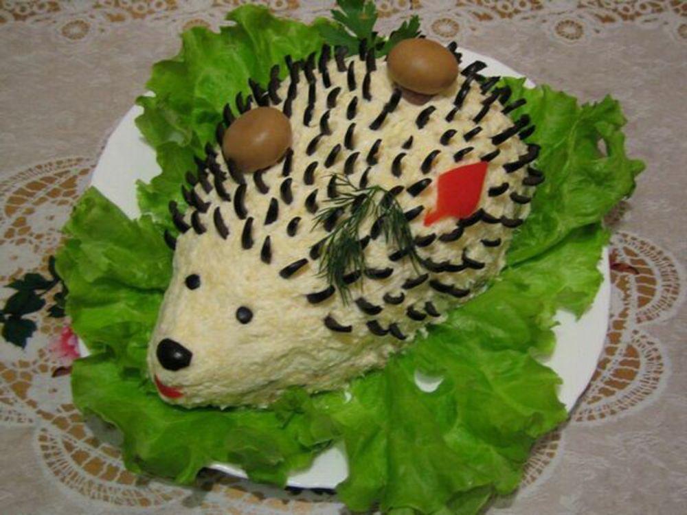 этот салаты в виде животных рецепты с фото грибы чеснок