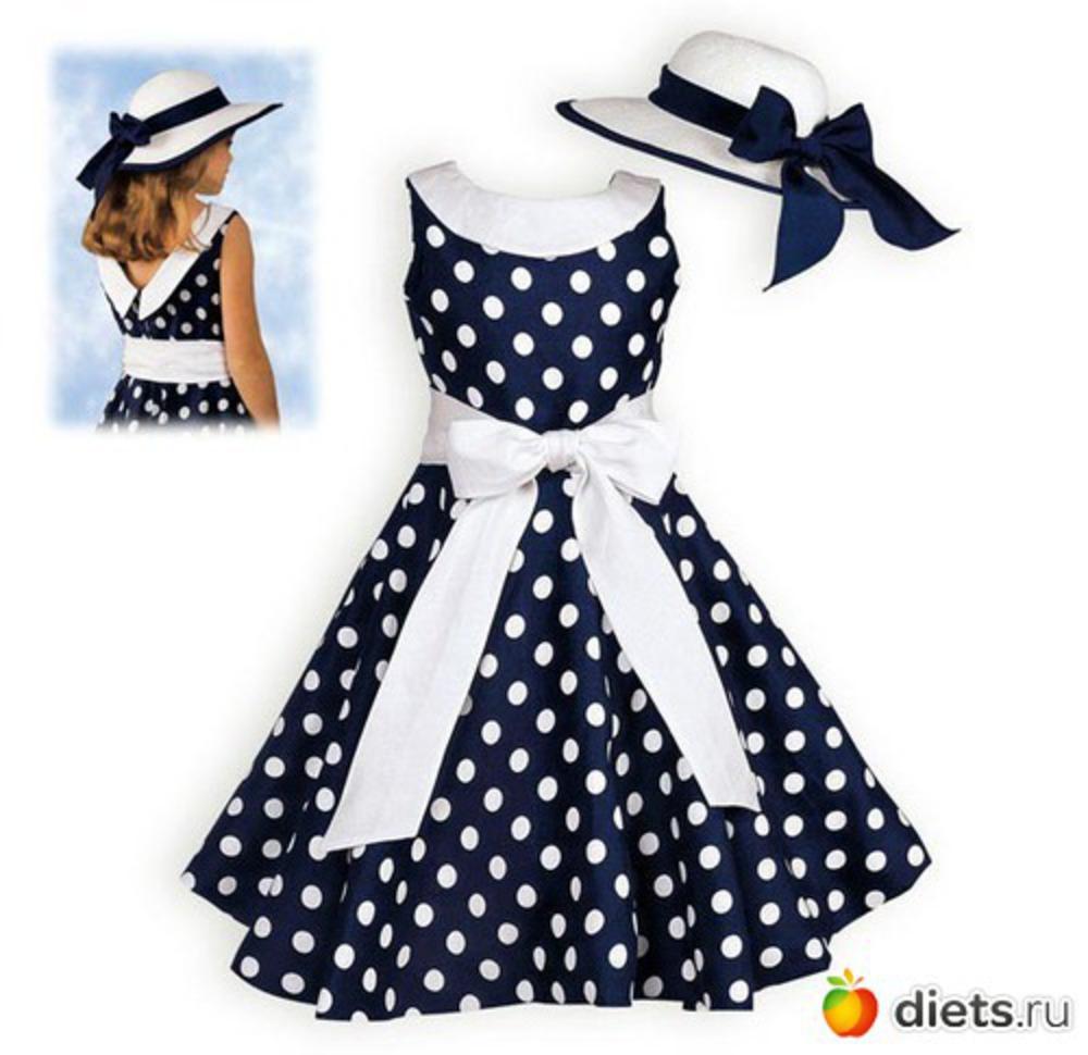 Ретро платья для девочек своими руками