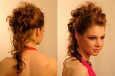 Прическа на кудрявые волосы своими руками фото
