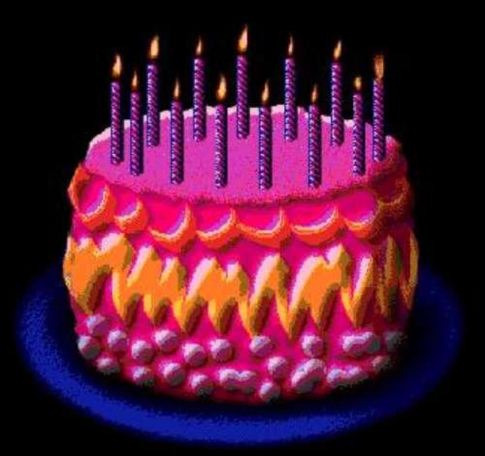 Анимашка торт со свечами на прозрачном фоне