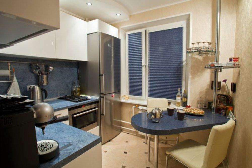 Соединение кухни с балконом серии и-209а двушка.