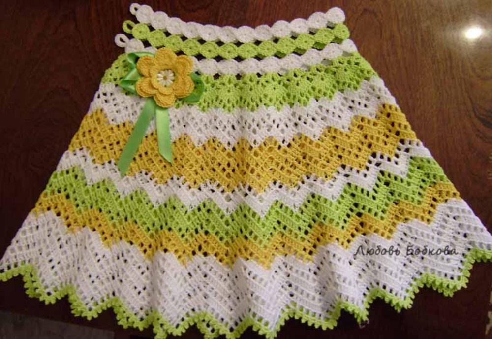 Вязание крючком юбочки для девочек