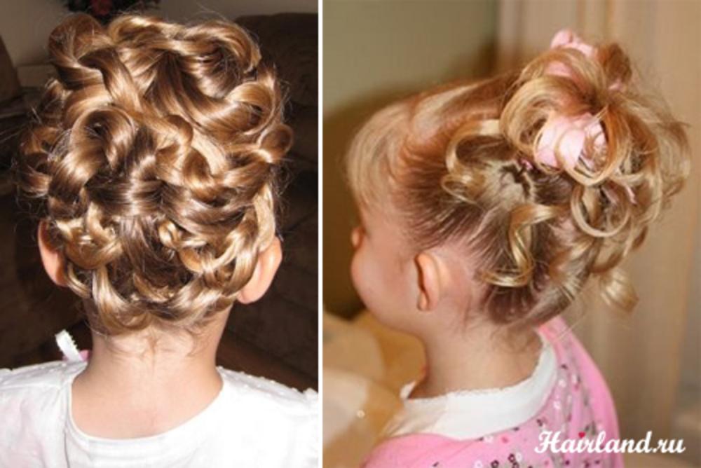 Описание детские причёски на выпускной