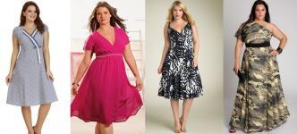 Вечернее платье для полных женщин (фото) .