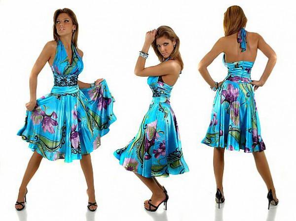Платья яркие на лето