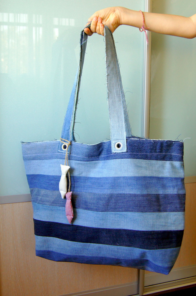df80623e0e9d У меня только пляжная сумка из старых джинсов ...