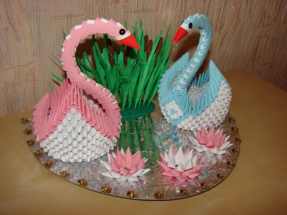 Поделки своими руками модульное оригами лебедь