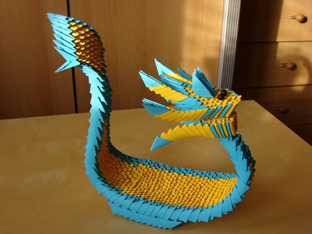 Модульные оригами лодка дракон схема
