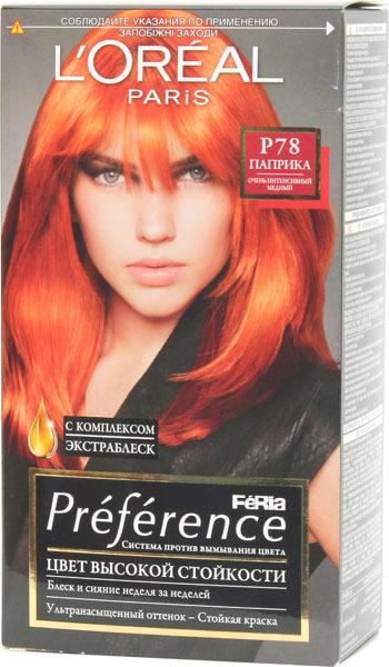 Краска для волос лореаль палитра цветов рыжий