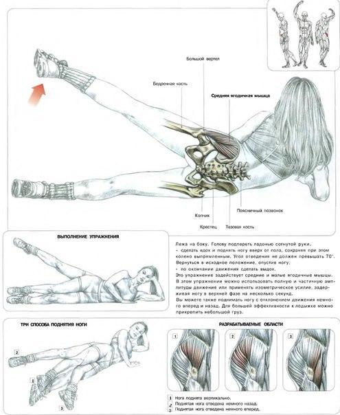 Упражнение для ног в домашних условиях с картинками