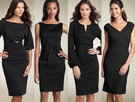 Фасон черного платья