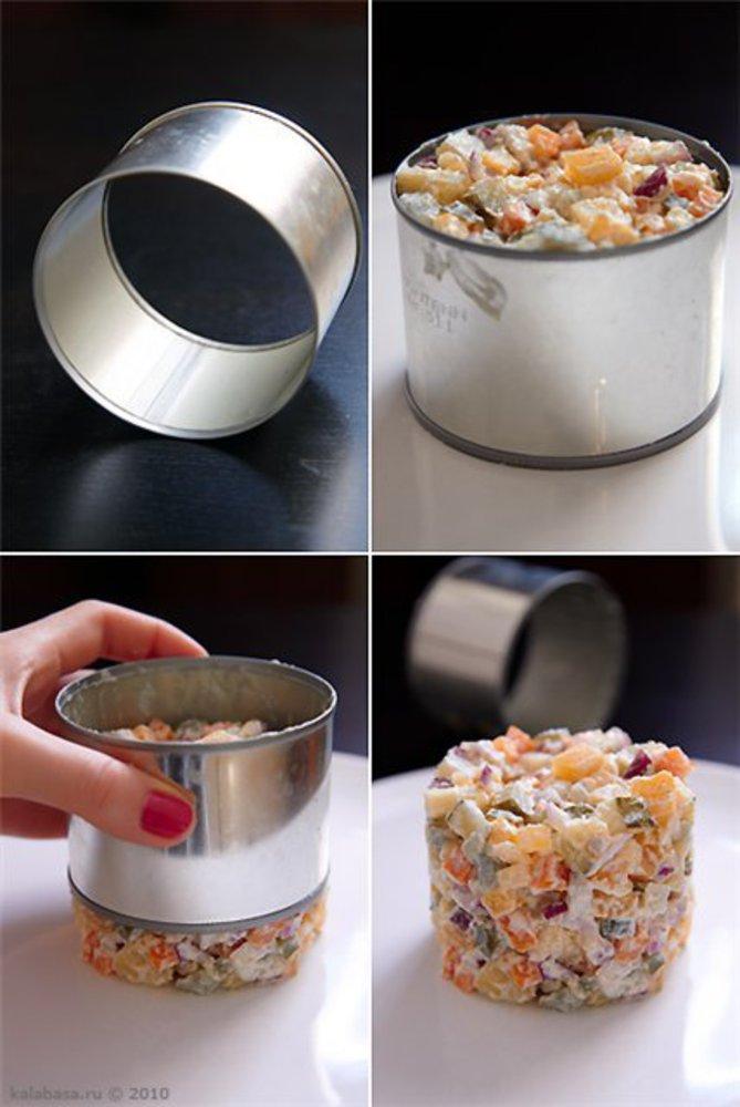 Фото формы кольца для салатов
