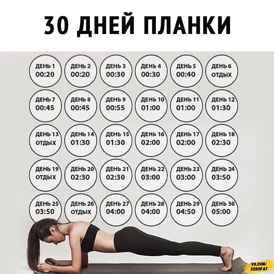 Календарь занятий для похудения