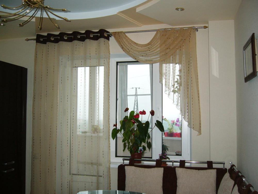 Шторы для кухни на заказ пошив кухонных штор фото дизайна.