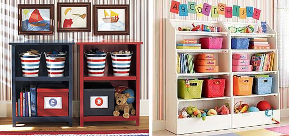 Детские полки для игрушек и книг своими руками