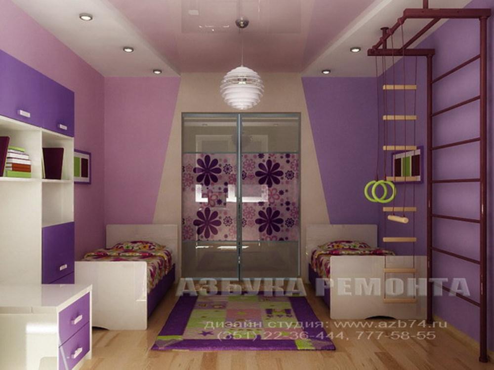 """Дизайн детской комнаты для двоих детей хрущевка """" современны."""