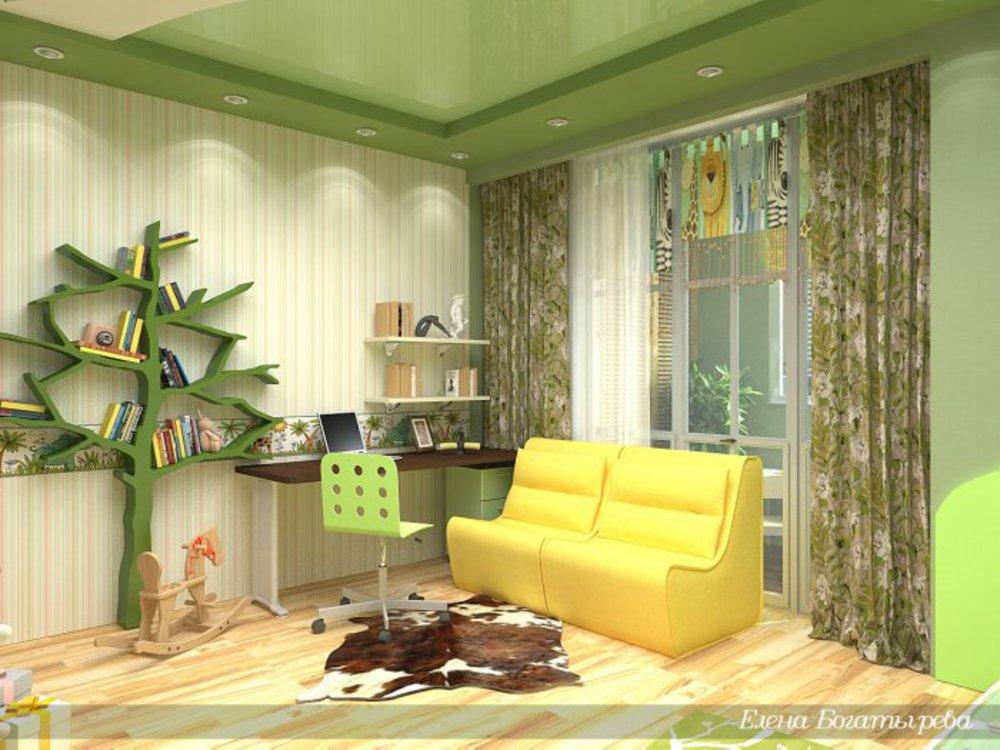 Оформление детской комнаты для девочки.