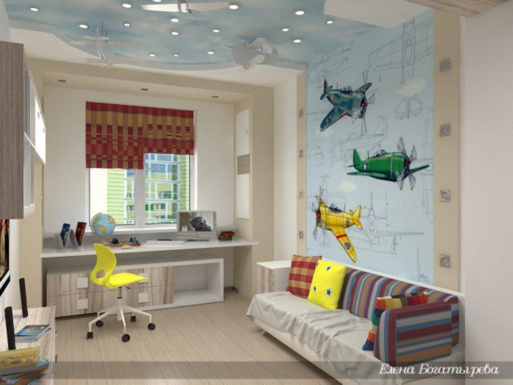 Комната для мальчика подростка с диваном дизайн