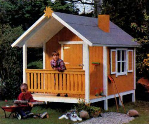 Строим домик на даче для детей своими руками