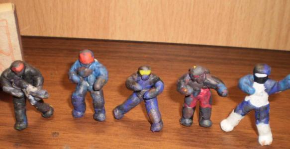 Поделки из пластилина солдаты 35