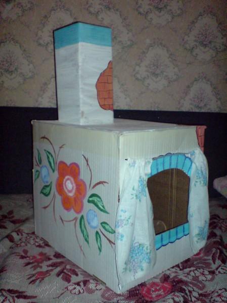 Как сделать русскую печку из коробок