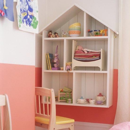 Шкафы и полки для детской комнаты своими руками